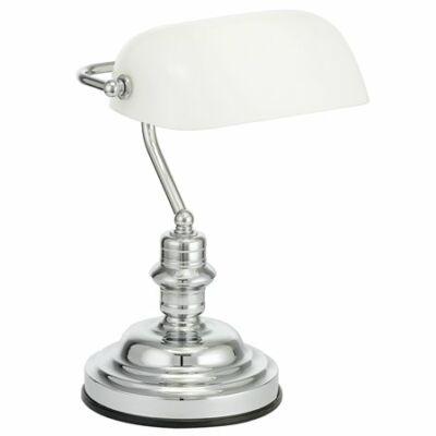 """Asztali lámpa, 60 W, """"Banker"""", fehér"""
