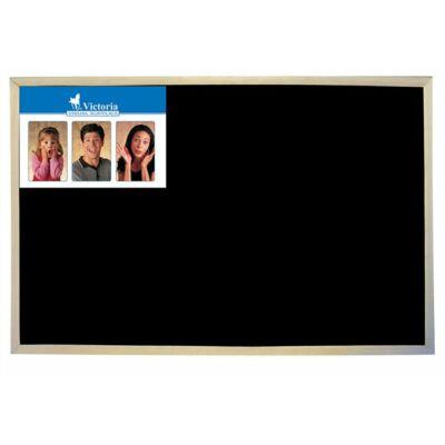 Krétás tábla, fekete felület, nem mágneses, 60x90 cm, fakeret
