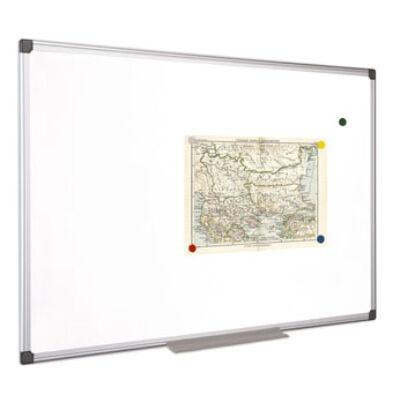 Fehértábla, mágneses, 90x120 cm, alumínium keret