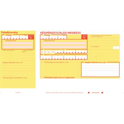 Postai sárga csekk (csekk, sárga csekk, készpénzátutalási megbízás) VÁGOTT