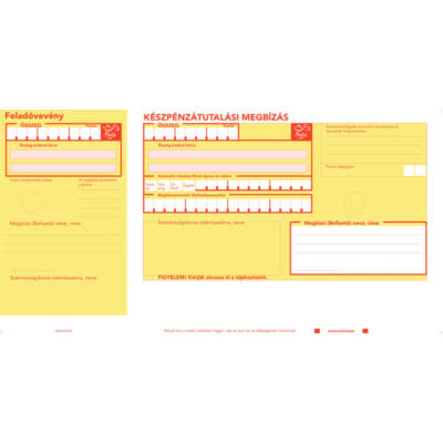 Készpénzátutalási megbízás (csekk, sárga csekk) VÁGOTT /2000/