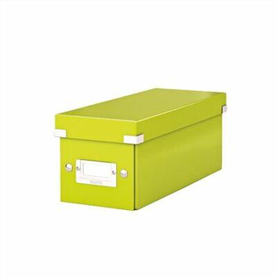 """CD tároló doboz, lakkfényű, LEITZ """"Click&Store"""", zöld"""