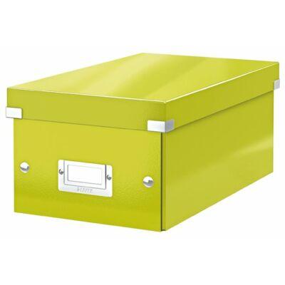 """DVD tároló doboz, lakkfényű, LEITZ """"Click&Store"""", zöld"""