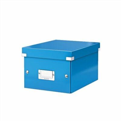 """Irattároló doboz, A5, lakkfényű, LEITZ """"Click&Store"""", kék"""