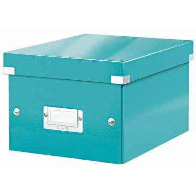 """Irattároló doboz, A5, lakkfényű, LEITZ """"Click&Store"""", jégkék"""
