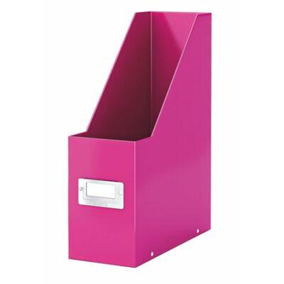 """Iratpapucs, PP/karton, 95 mm, lakkfényű, LEITZ """"Click&Store"""", rózsaszín"""