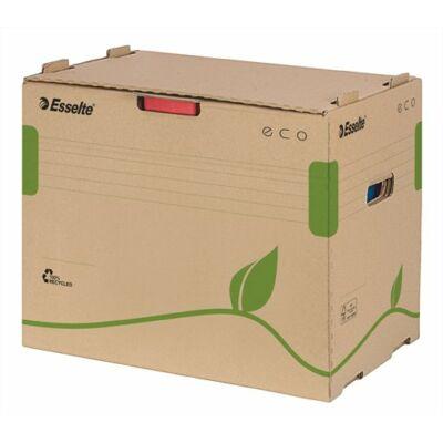 """Archiváló konténer, újrahasznosított karton, iratrendezőnek, ESSELTE """"Eco"""", barna"""