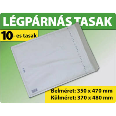 LÉGPÁRNÁS TASAK FEHÉR W10 BORÍTÉK K/20 10000 DARAB