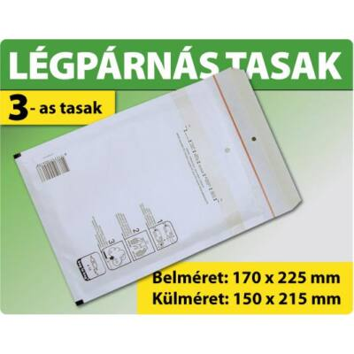 LÉGPÁRNÁS TASAK FEHÉR W3 BORÍTÉK C/13 10000 DARAB